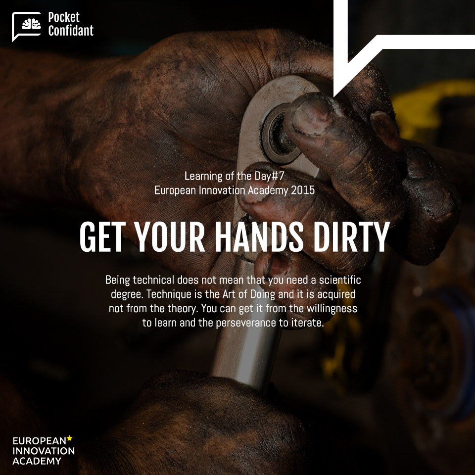 EIA Learning Day#7: Get Your Hands Dirty