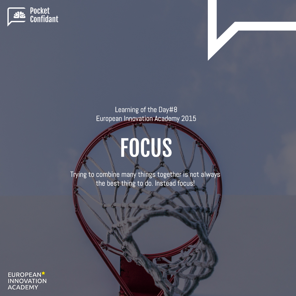 EIA Learning Day#8: Focus