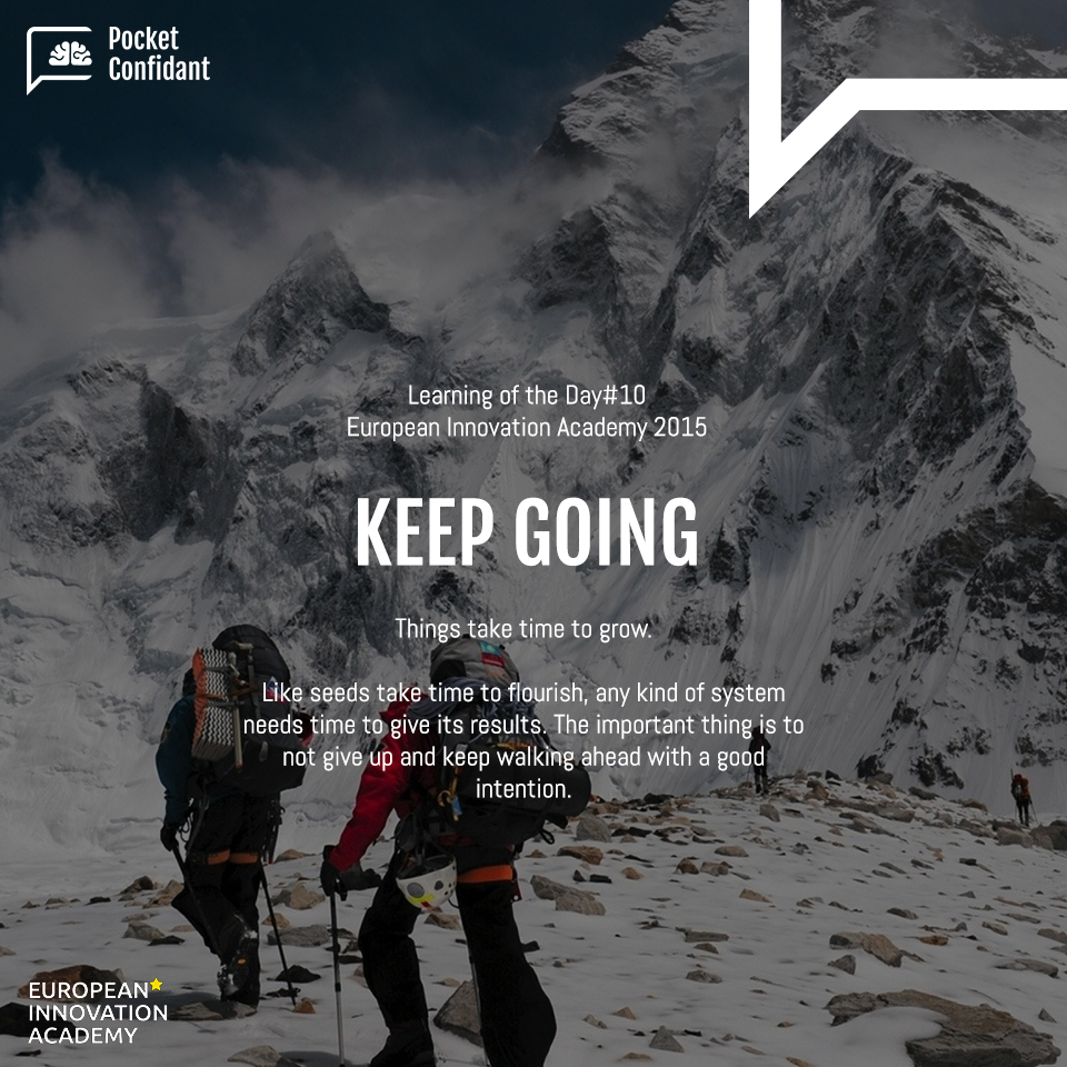 EIA Learning Day#10: Keep Going