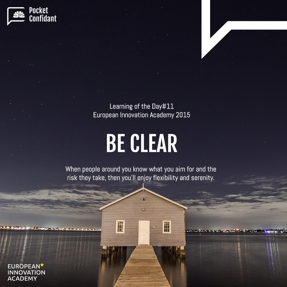 EIA Learning Day#11: Be Clear