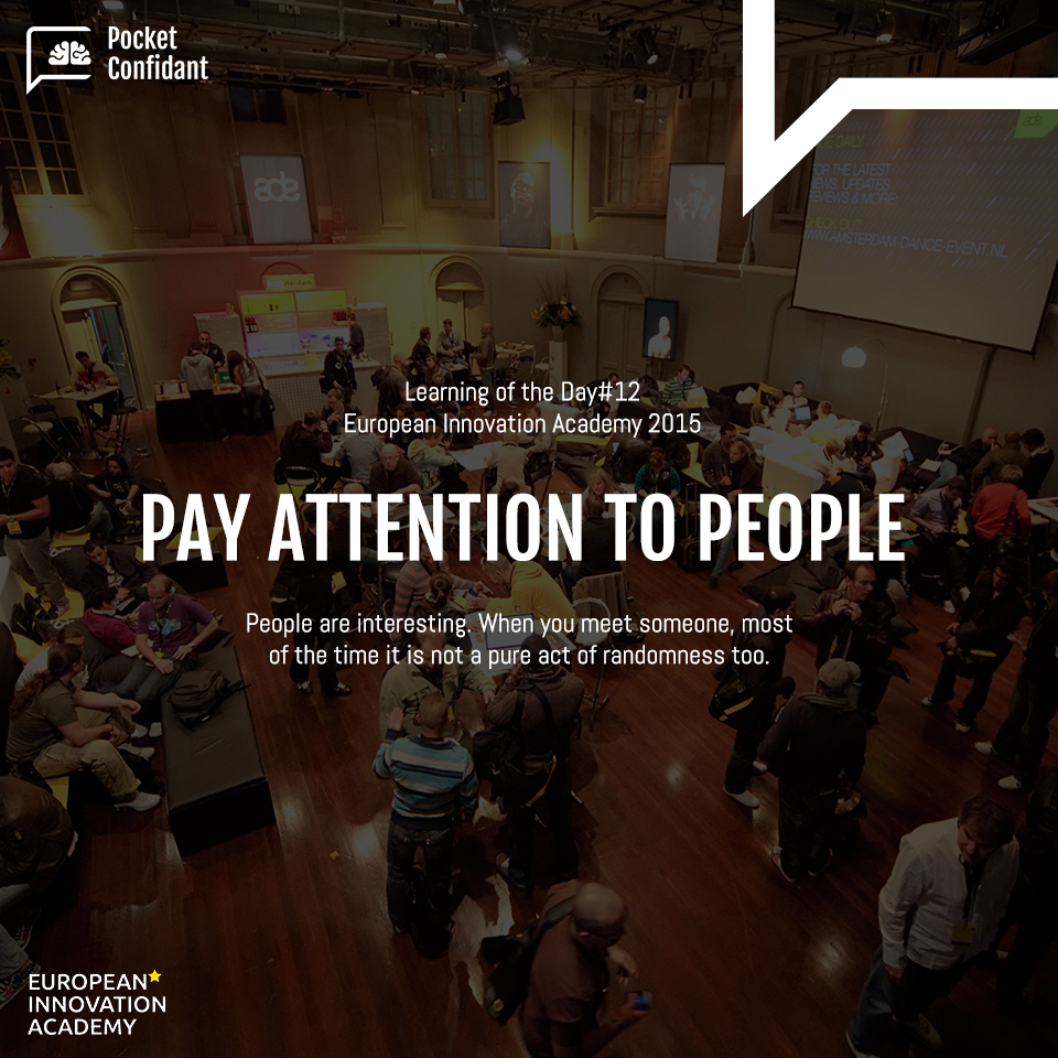 EIA Learning Day#12: Pay Attention To People