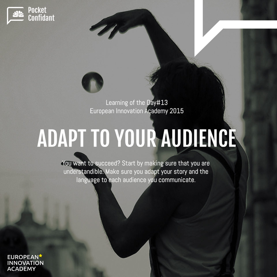 EIA Learning Day#13: Adapt to Your Audience