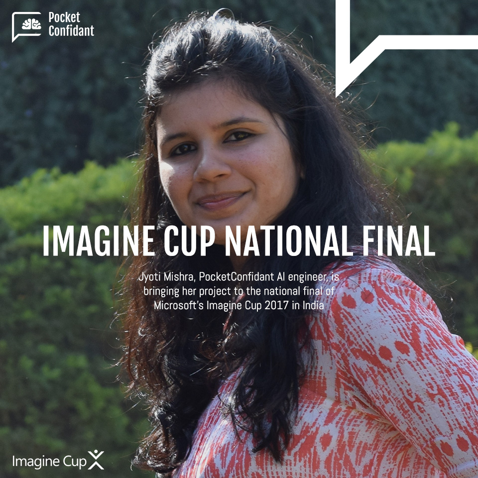 Jyoti Mishra brings PocketConfidant AI to the national final of Imagine Cup
