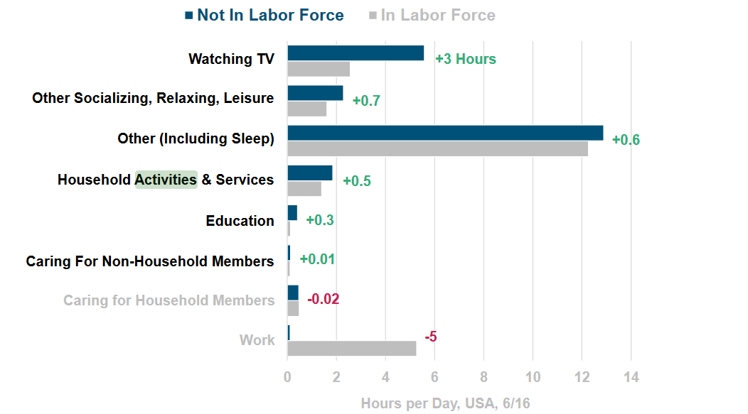 Figure 5 Most common activities for many who don't work